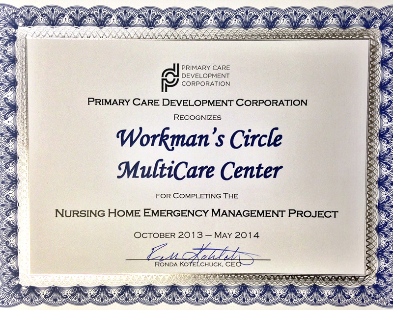 Nursing Home Emergency Managment Project Recognition