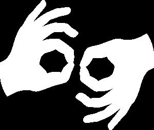 Sign language interpreter symbol
